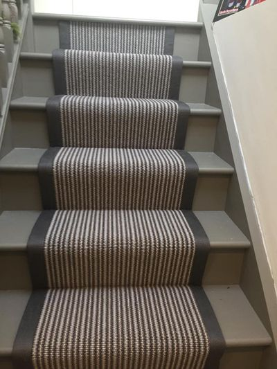 Stair runner carpet with cotton binding fitted by Cork flooring company Dan Sheehan Floor Coverings